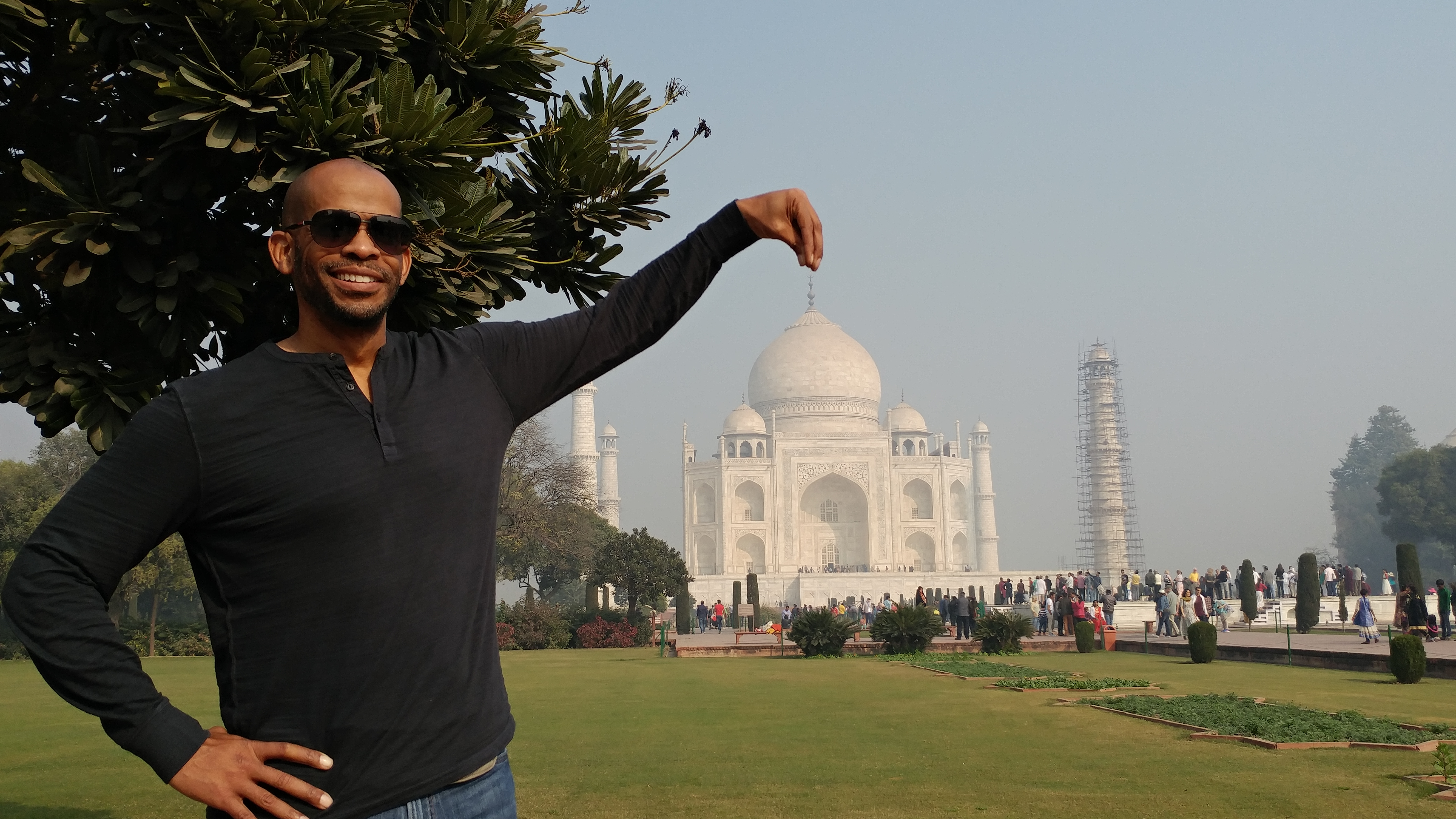 Holding the Taj
